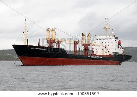 Murmansk, Russia - May 25, 2010: Steamship ship