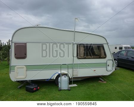 Mobile Caravan On Campsite