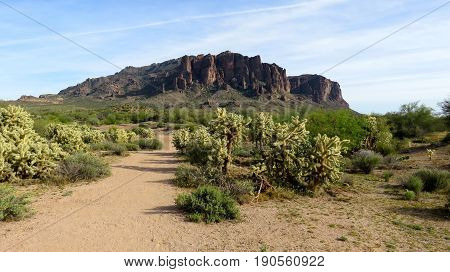 View of Superstition Mountains, Arizona, from a distance