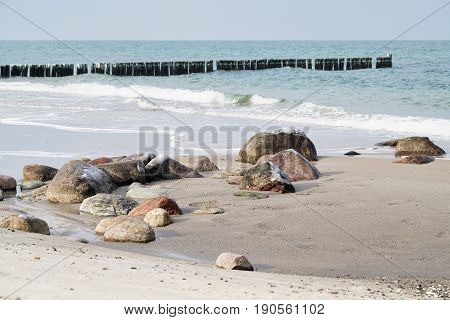 Beach of the Baltic Sea at Kuehlungsborn