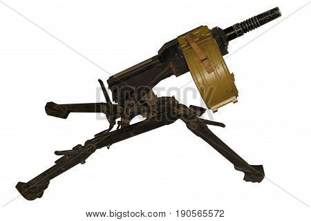 Automatic grenade launcher AGS-17 Flame isolated on white background.