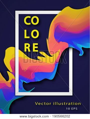 Abstract Colorful Vector Background With Liquid Paint