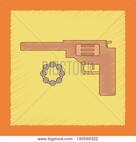 flat shading style icon Kids toy pistol