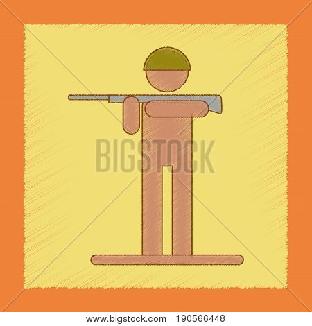 flat shading style icon Kids military soldier