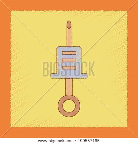 flat shading style icon Kids toy syringe