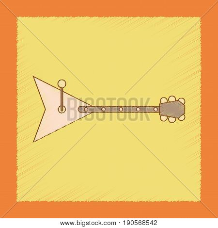 flat shading style icon Kids toy balalaika