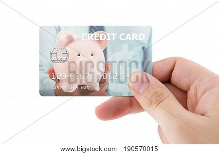 Hand Holding Plastic Credit Card