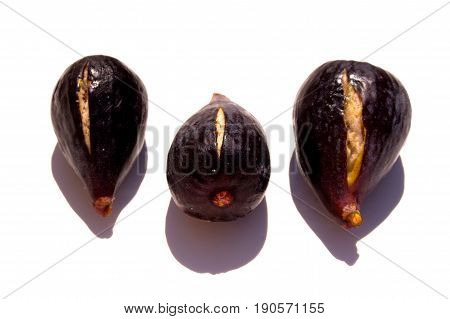 Fig. Fresh figs isolated on white background.