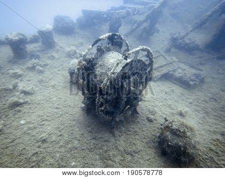 Underwater Wreck. Underwater shipwreck. Underwater Wreck. Underwater shipwreck.