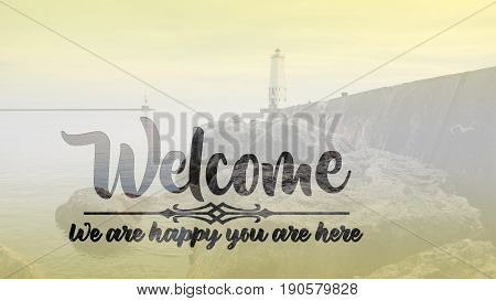 A welcome slide that reads:Welcome We are glad you are here
