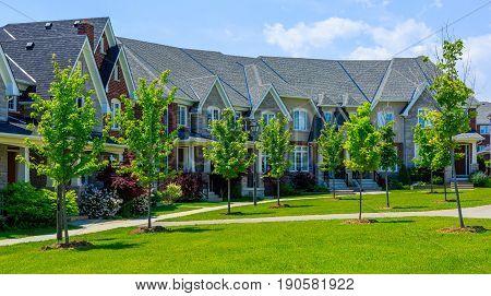 Custom built luxury houses in the suburbs of Toronto, Canada.