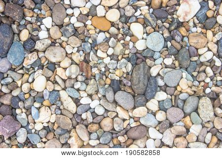 Sea stones laid out in the form of a circlebackground texture