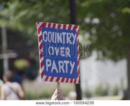 Asheville, North Carolina, USA - June 3, 2017: A patriotic