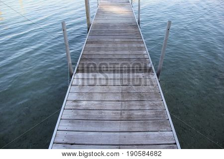 A dock into Lake Michigan on the shores of Michigan