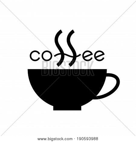 Coffee cup. Vector lettering. Eps8 RGB Global color