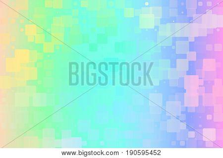 Light Rainbow Glowing Various Tiles Background