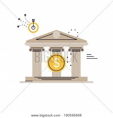 Banking and financial services, budget planning, financial investments, business and finance flat vector illustration design for mobile and web graphics