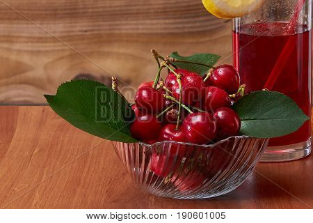 Cherry drink, invigorating in the summer, brings a lot of pleasure to the person.