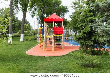 Childrens Playground Area In City Park