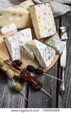 Arrangement Of Gourmet Cheeses