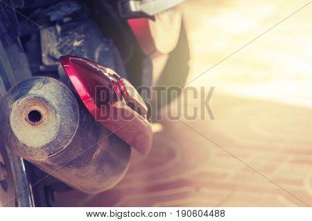 intake motocycel with blur white back ground