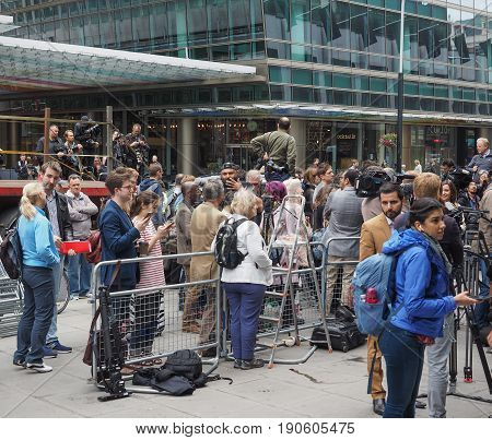 People Waiting For Corbyn In London