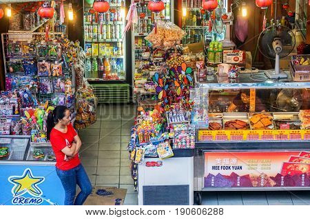Kota Kinabalu,Sabah-May 27,2017:View of grocery store in Segama,Kota Kinabalu,Sabah,Malaysia. A grocery store is a retail store that primarily sells food.