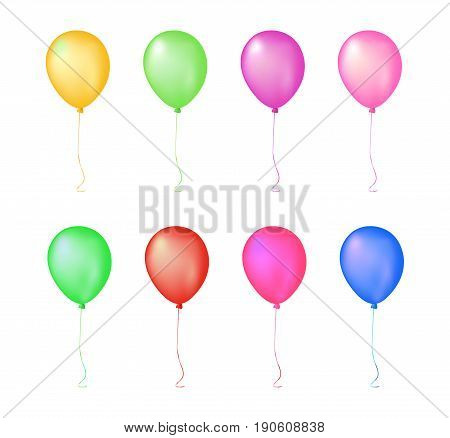 Isolated Colorful Glow Gathering Event Air Balloon