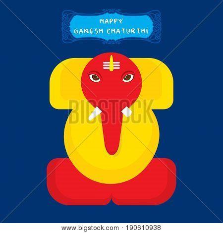 creative ganesha chaturthi or idol ganesha design