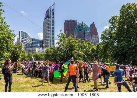The Hague the Netherlands - June 10 2017: Pride walk The Hague