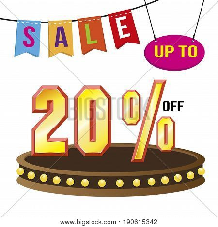 Special offer sale tag isolated vector illustration. Discount offer price label, symbol for advertising campaign in retail, sale promo marketing, ad offer on shopping day
