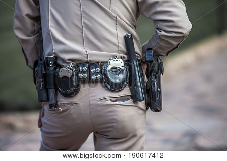 Armed Police Officer in Texas Unitet States