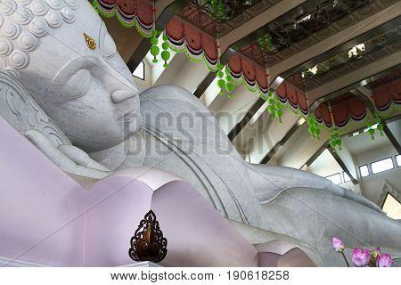 white marble Buddha spirituality temple udon thani illumination