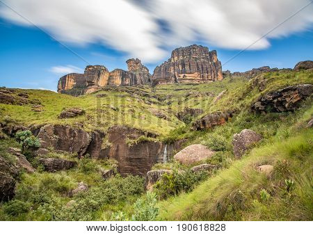 Rock Formations Of The Drakensberge At The Mkhomazi Wilderness Area
