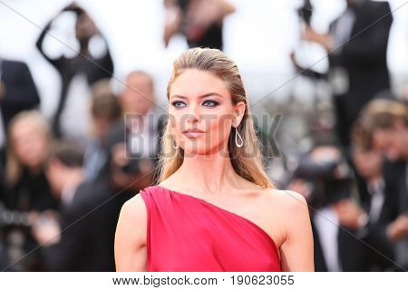 Martha Hunt attends 'Amant Double (L'Amant Double')' Red Carpet Arrivals during the 70th annual Cannes Film Festival at Palais des Festivals on May 26, 2017 in Cannes, France.