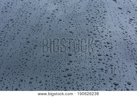 Rain Drops On Car With Glass Coating Protection Skin