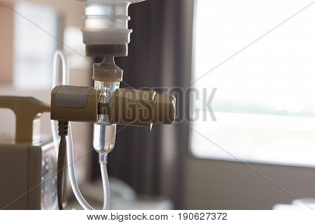 Automatic Infusion Iv Drip Saline Solution Machine Medical In Patient Room Hospital