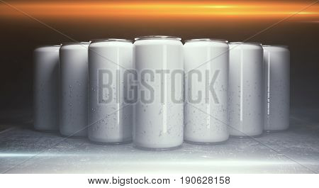 Blank Aluminium Beer Cans Front