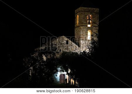 Church Of Barruera N The Catalan Pyrenees. Spain