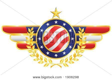 Vector American Patriotic Emblem