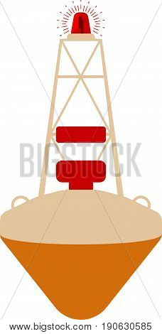 Buoy flat icon sign.. Cartoon Vector illustration.