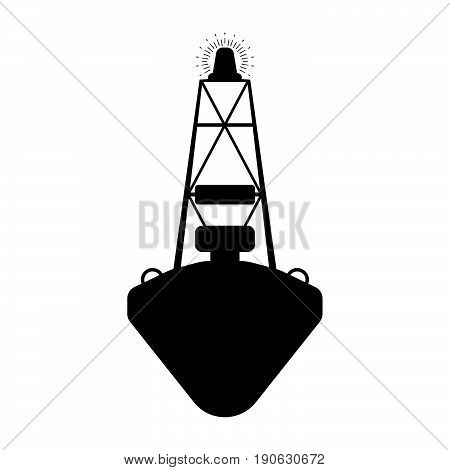 Buoy flat icon sign.. Silhuette Vector illustration.
