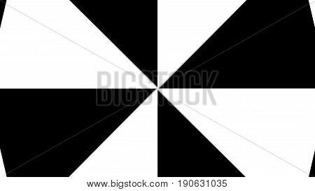 Hypnotic Rhythmic Movement Black And White Triangles