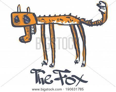 A dead fox. Vector illustration EPS 10