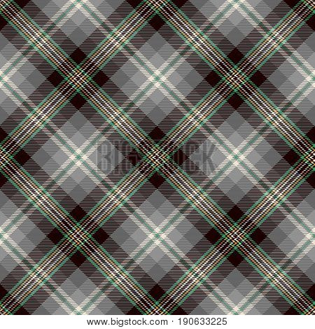Tartan Seamless Pattern Background. Black Gray Yellow Green and White Plaid Tartan Flannel Shirt Patterns. Trendy Tiles Vector Illustration for Wallpapers.