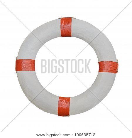 image of lifebuoy isolated on white background