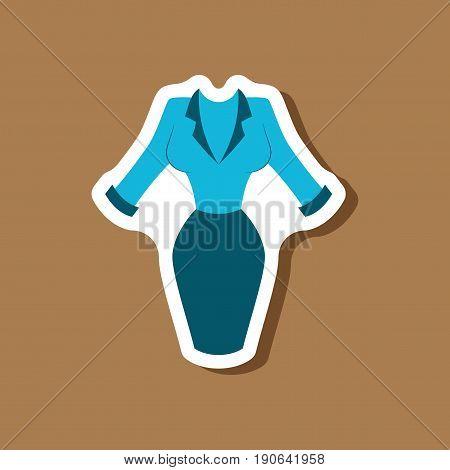 paper sticker fashion clothes Office dress fashion