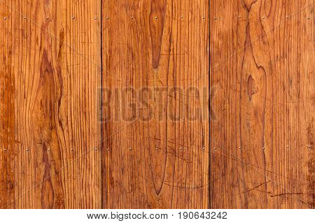 Old brown wood plank board background texture.