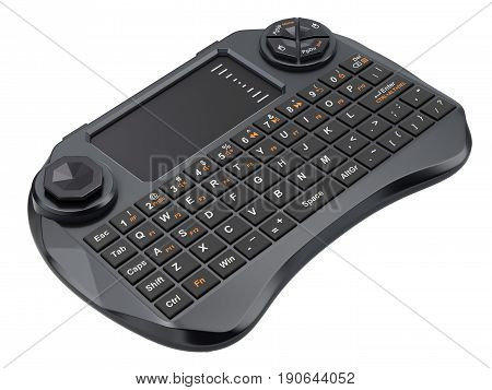 Mini wireless keyboard with touchpad for multimedia remote control - 3d illustration