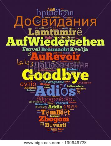 Word Goodbye In Different Languages